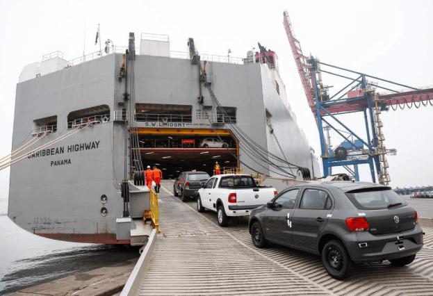 Exportação de veículos chega ao seu maior nível desde 2007